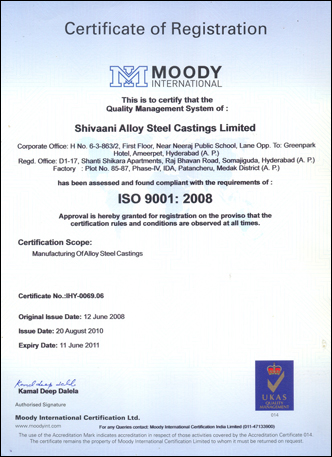 Moody International - ISO Certification Registration Certificate
